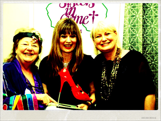Scarlet Stiletto First Prize Award 2012  with Kerry Greenwood and Marion Boyce